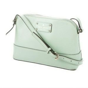NWOT Kate Spade Small Mint Leather Crossbody